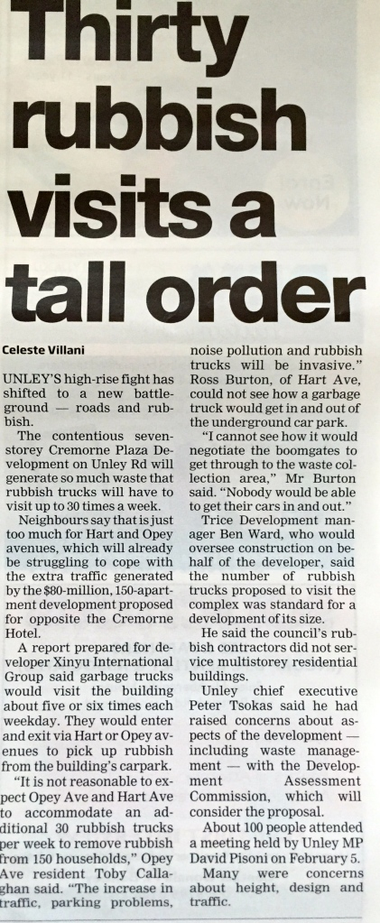 Thirty rubbish visits a tall order - The Eastern Courier Messenger 17 February 2015